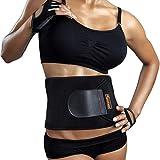 Sportneer Bauchweggürtel Fitnessgürtel, Schwitzgürtel, Verstellbarer Neopren-Fitness-Gürtel für Rückenstütze, Gewichtsverlust-Wickel, Schweißverstärker, Körperschlanker, Passend für Männer und Frauen