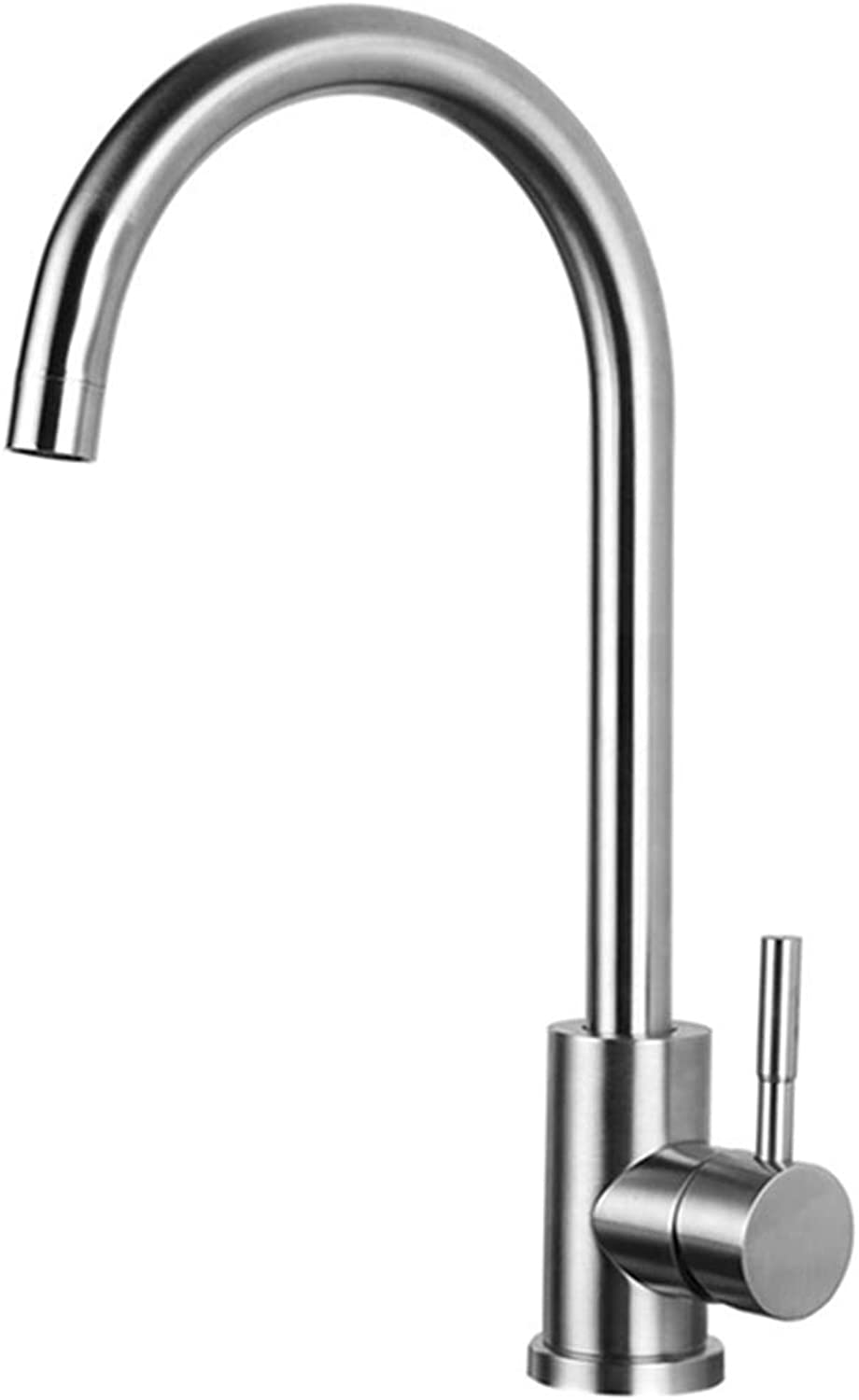 FZHLR Kitchen Faucet 360 Degree Swivel Stainless Steel Kitchen Sink Faucet Single Handle Hot and Cold Mixer Sink Faucet Brushed Nickel