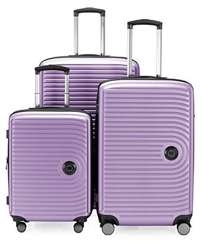 HAUPTSTADTKOFFER - Mitte – Set di 3 valigie - bagaglio a mano da 55 cm, valigia media da 68 cm, valigia grande da 77 cm, in ABS rigido, TSA, Senerella
