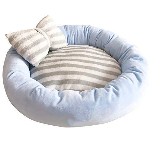 ZISTA ronde hond bed wasbaar lange pluche hond kennel kat huis super zacht katoen matten bank voor hond mand huisdier warm