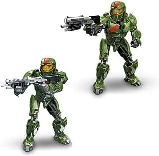 Megabloks Green Spartan (Red team) with Battle Rifle