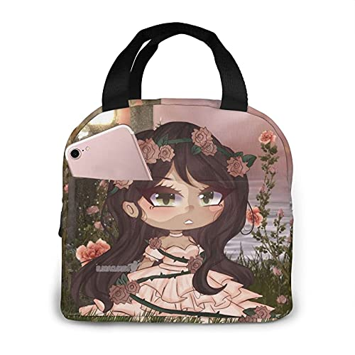 Bolsa del almuerzo Gacha Life Cartoon Lunch Bag Tote Bento Box Leakproof Insulated Reusable for Man Children Suitable in Office School Picnic