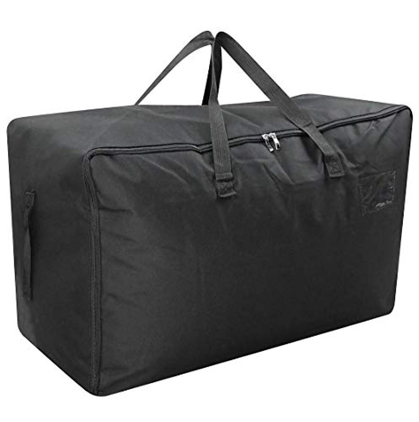 AMJ Holiday Decor Storage Organizer Bag, Three-Side Zip Open, Big Size, 100L, Black