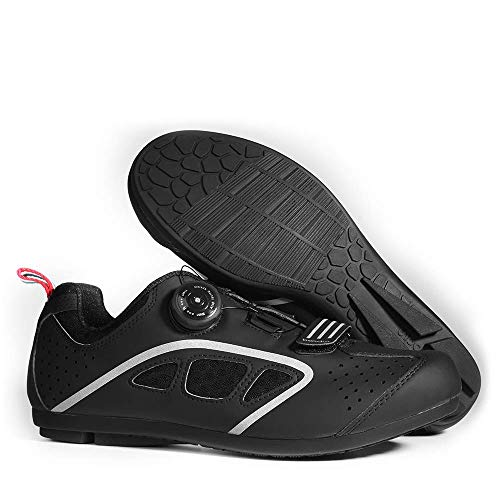 DDDD store 1 par de Zapatos de Ciclismo Transpirables para Hombre, Bicicleta de Carretera, Zapatos Antideslizantes, Zapatos Deportivos al Aire Libre
