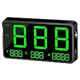 Yiyu Velocímetro GPS Velocímetro del Coche HUD Head Up Display, km/h de Velocidad de Alarma mph, Cargador USB Disponibles, for Todos los vehículos, Bicicletas x (Color : Black)