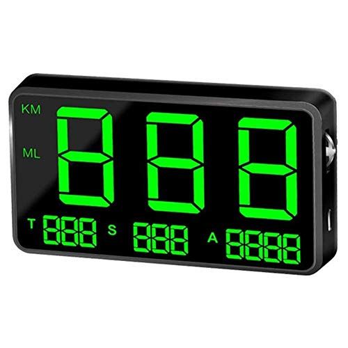 Yiyu Velocímetro GPS Velocímetro del Coche HUD Head Up Display, km/h de Velocidad de Alarma mph, Cargador USB Disponibles, for...