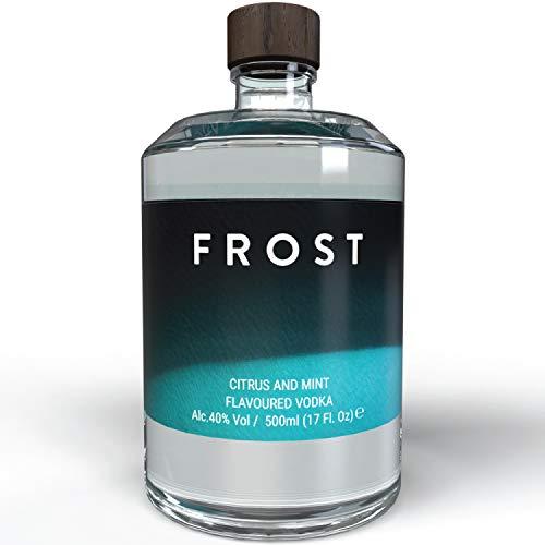 THE VODKA COLLECTIVE - Vodka Frost - Wodka mit Citrus Mint Geschmack I Geschenke für Freunde - Shot Flaschen - Soul Bottle I Korn Schnaps Spirituosen auf pflanzlicher Basis aus Hamburg - 500 ml