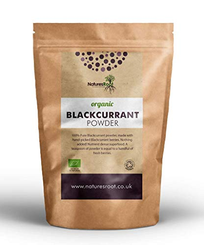 Nature's Root Organic Blackcurrant Powder 250g - Concentrated Source of Antioxidants | Tasty & Nutritious | Raw Fruit Powder | Vitamin Rich Superfood