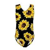FOR U DESIGNS Toddler Girls Gym Athletic Swimsuit One Piece Sunflower Pattern Dress Swimwear 11-12 Years