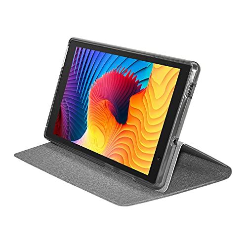 タブレット専用ケース 8インチ COOPERS CP80 全面保護 キズ防止 角度調整 グレー タブレットPCケース