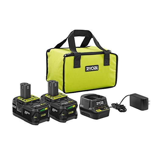 18-Volt ONE+ Lithium-Ion High Capacity 4.0 Ah Battery (2-Pack) Starter Kit with Charger and Bag P197
