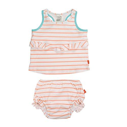 Lässig 1431004804 Baby Tankini Set (Top und Schwimmwindel), Sailor peach, 12 Monate, mehrfarbig