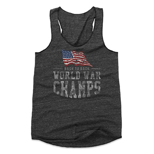 Funny 4th of July Women's Tank Top - Back to Back World War Champs WHT (Black, Large)