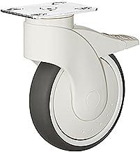 GedoTec® Design transportwielen, bestuurbaar met rem, meubelwiel, van kunststof, zwenkwielen met aanschroefplaat, diameter...