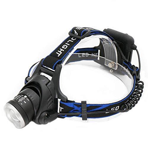 Linternas de Cabeza, iluminación LED de 7000LM, Uso de batería AA, lámpara de Cabeza, Linterna de Caza, luz de Cabeza de Pesca, Faro con Zoom, Luces de Bicicleta