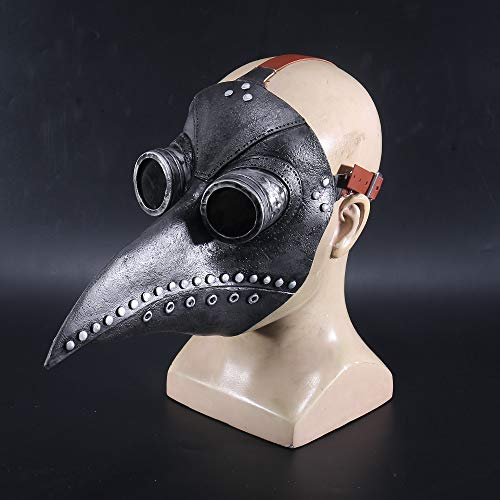Neue Art Cosplay Dr. Beulenpest Steampunk Pest Arzt Maske Schwarz Latex Vögel Schnabel Masken Halloween Kunst Cosplay Karneval Requisiten