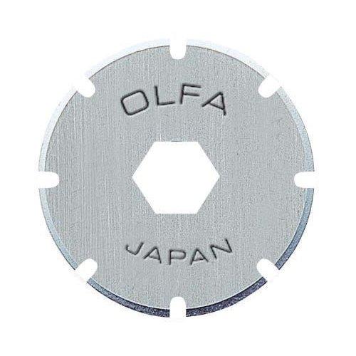 Olfa 403301 2 cuchillas circulares perforadoras de 18 mm para cúter PRC-2, Acero, Set de 2 Piezas
