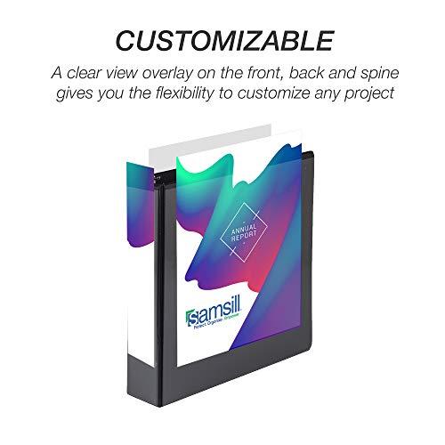 Samsill Economy 3 Ring Binder Organizer, 2 Inch Round Ring Binder, Customizable Clear View Cover, Black Bulk Binder 12 Pack Photo #4