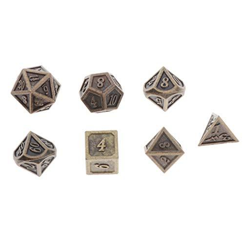 Tongina 7 peças de jogos de RPG adereços D4 D6 D8 D10 D12 D20 Noctilucidos poliédricos