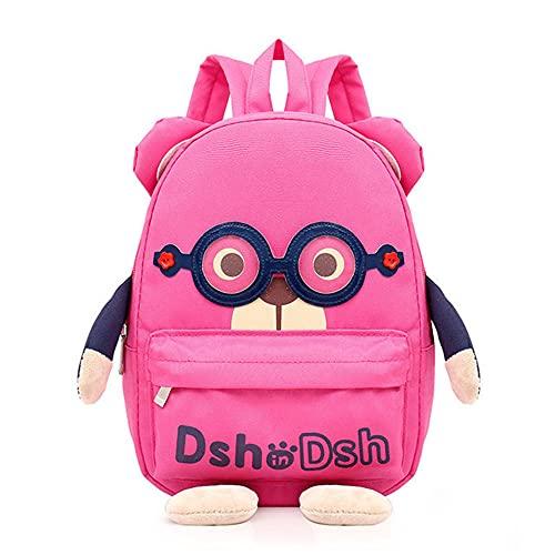 HGYTD Sacchetti di Scuola dei Bambini Dell'orso Ddel Fumetto 3D,Zaini Delle Ragazze dei Ragazzi Della Scuola Materna dei Bambini