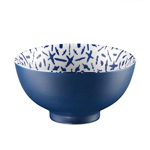 ASA Selection Indigo Lot de 2 bols en porcelaine Bleu/blanc Ø 11,5 cm Hauteur 6 cm