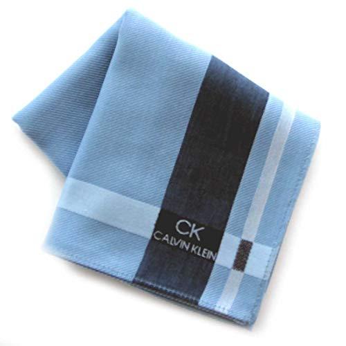 カルバンクライン 紳士 ハンカチ (ブルー) 大判 [綿100%] ビジネス メンズ ハンカチーフ 48cm CK CALVIN KLEIN 119033-0251-02