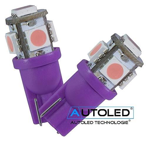 AUTOLED 23 T10 / W5W-5 LEDs SMD 5050 Violet
