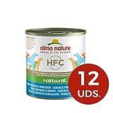 Almo nature HFC Natural -  Tonno Skipjack e Merluzzo - Cibo per cani, Confezione da 12 pez...