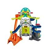 Fisher Price - Little People, Mega Torre Scontri e Sfide, Pista con Veicoli Giocattolo per Bambini 18+Mesi, GMJ12