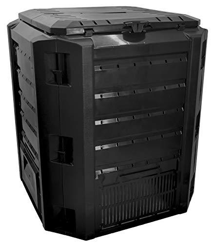 My-goodbuy24 Komposter 380 Liter Biomüll - Schnellkomposter aus Kunststoff - Kompostierer stabil und hochwertig - witterungsbeständig Deckel klappbar - Gartenkompster (380 Liter)