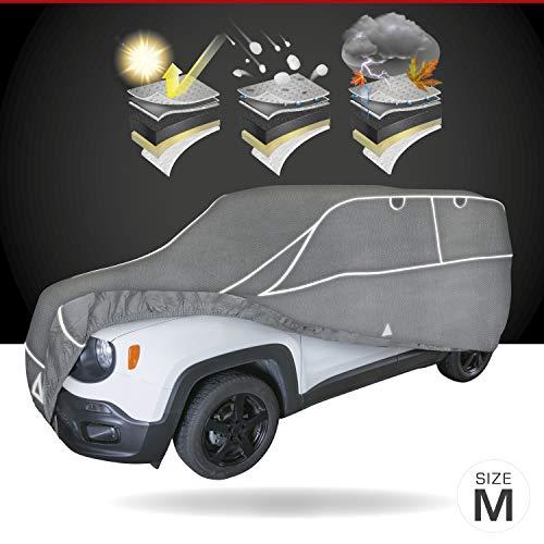 Walser Auto Hagelschutzplane Hybrid UV Protect SUV wasserdichte atmungsaktive UV-beständige Hagelschutzgarage für optimalen Hagelschutz, Größe: M 30960