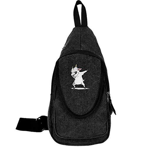 Dabbing Rucksack für Ziege, Canvas, Brusttasche, für Wandern, Reisen, für Männer und Frauen, Kaffee