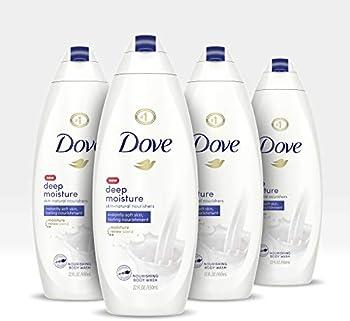 4-Pack Dove Body Wash For Dry Skin Gentle Bodywash, 22 Fl Oz