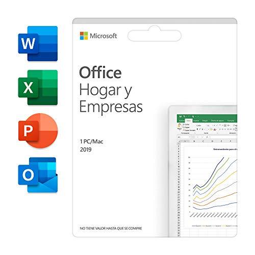 Microsoft Office Hogar y Empresas 2019 Todas las aplicaciones de Office 2019 para 1 PC/MAC Código de activación enviado por correo