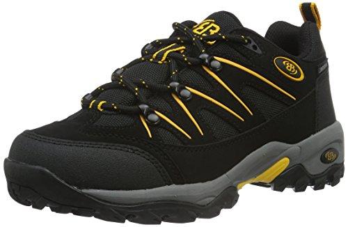 Brütting Mount Hunter Low, Chaussures de Randonnée Hautes Mixte, Noir (Noir/Jaune Noir/Jaune), 48 EU