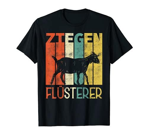 Ziegen Flüsterer Lustiges Landwirt Bauer Ziege Geschenk T-Shirt