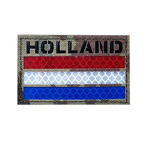 IR Nederlandse Vlag patch Nederland NLD Nederland Badge Voetbal Shirt Infrarood Reflecterende Motorfiets Tactische Moraal Multicam Armband Embleem Camo