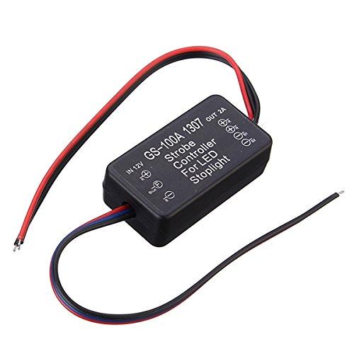 Tutoy Module Flasher pour Contrôleur Flash Stroboscopique Universel pour Voyant D'Arrêt De Frein LED
