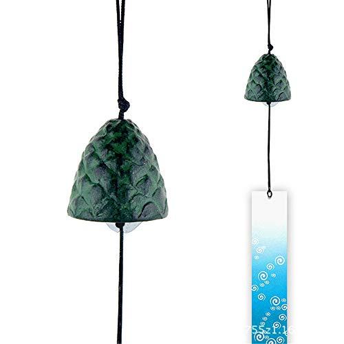 Dreamcatcher Pine Cone Vorm Japanse Tuin Decoratie 2 Stuk Set Outdoor Decoratie Deurbel Vintage Wandklok Antieke Gietijzeren Wind Chime Veer Wandopknoping Ornament