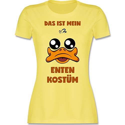 Karneval & Fasching - Das ist Mein Enten Kostüm - L - Lemon Gelb - Ente - L191 - Tailliertes Tshirt für Damen und Frauen T-Shirt
