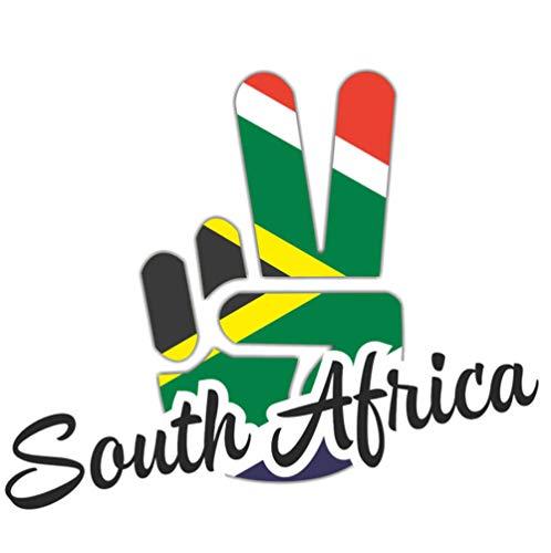 luyiwzd Buchstaben Text Sticker Autoaufkleber Auto Aufkleber Südafrika Flagge Persönlichkeit Sieg Finger Aufkleber PVC 16 cm X 13 cm
