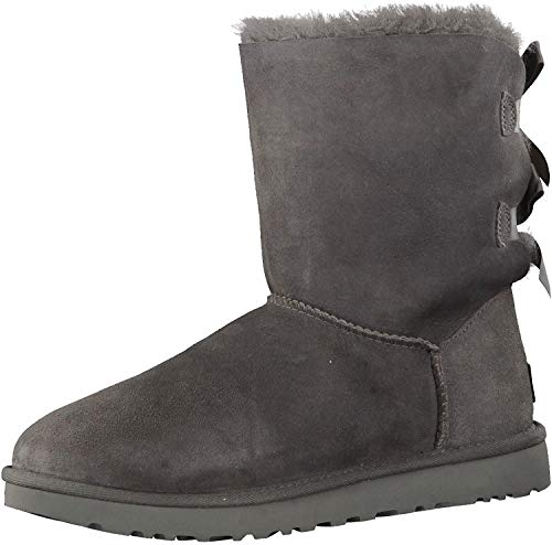 UGG Female Bailey Bow II Classic Boot, Grey, 36 EU