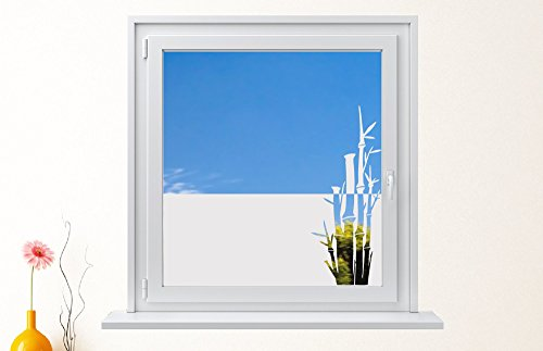DD Dotzler Design 6416-7 individuelle Sichtschutzfolie Fensterfolie Milchglas Gecko Felsbrocken Grasbüschel
