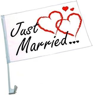 Suchergebnis Auf Für Just Married Autoflagge Hochzeitsfahne Auto Motorrad