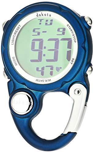 Dakota Watch Company Digital Clip Mini Watch with Water Resistance, Dark Blue