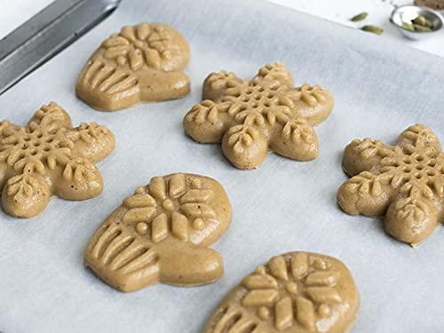 OUDE - Stampo per biscotti a forma di fiocco di neve, stampo per biscotti al pan di zenzero