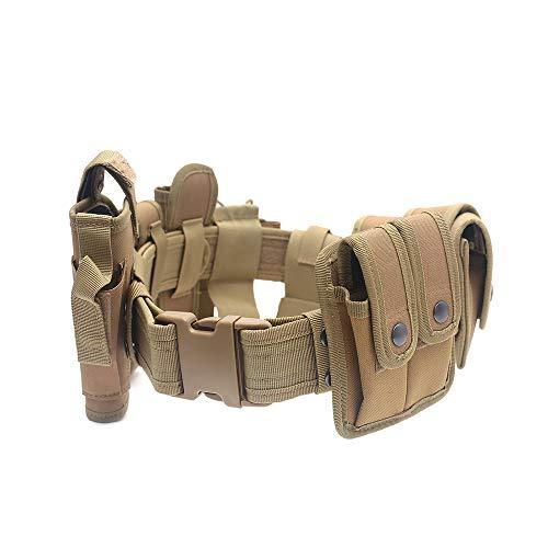 Lixada Ceinture Tactique étui, Tactical équipement Utilitaire Kit Ceinture à Poches système étui Formation extérieure pour Équipement de Police de sécurité Application de Loi