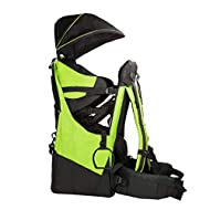 ClevrPlus Deluxe Baby Backpack Hiking Toddler Child Carrier Lightweight with Stand & Sun Shade Visor, Green | 1 Year Limited Warranty