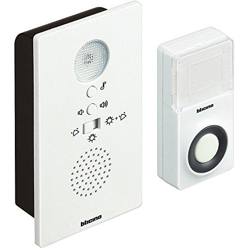 BTicino 393005N Kit Campanello Senza Filo con Segnalazione Luminosa, 3 V, Bianco