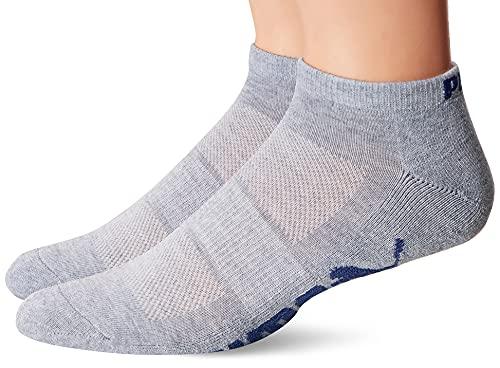 Puma Socks - United Legwear Men's Low Cut Socks, Grey/Orange, 10-13/6-12 (Pack of 6)